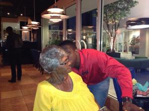 granny getting kissed