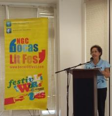 Professor Barbara Lalla at the WUTT event.
