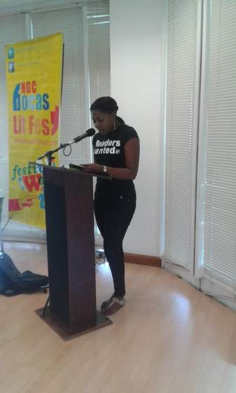Me reading from Selima and the Merfolk for DIY Lit event.
