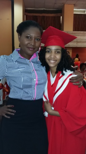 Ms. Xavie Millette was a big winner at the graduation. She also told me that she loved my book :-)
