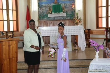 Ms. Jayriel Charles, Current Female Primary Schools Cricketers of the Year.